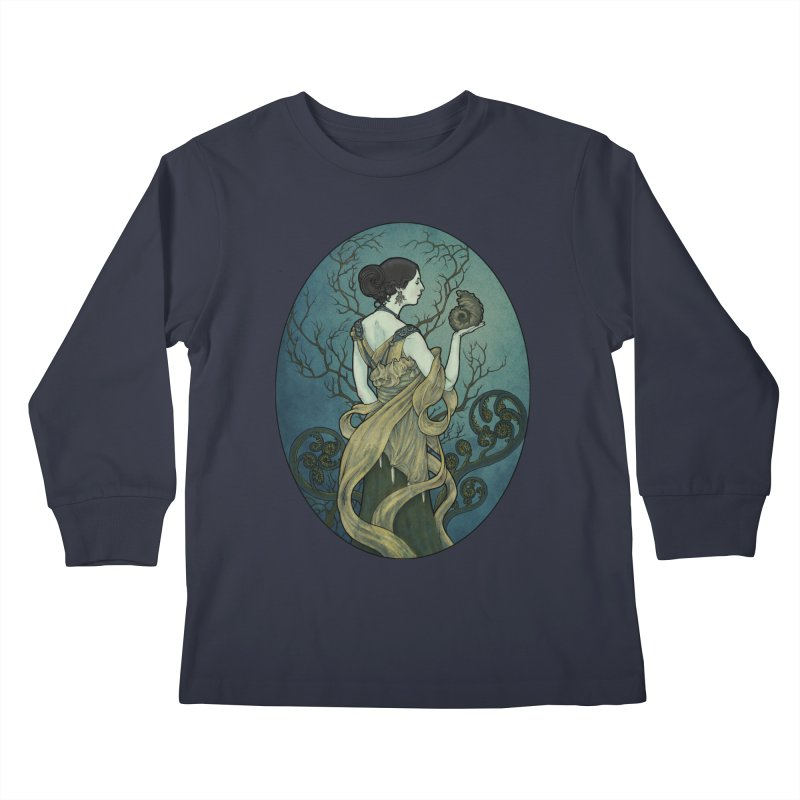 Ammonite Kids Longsleeve T-Shirt by Ambrose H.H.'s Artist Shop