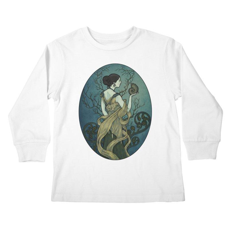 Ammonite Kids Longsleeve T-Shirt by Ambrose H.H.'s Artist Shop