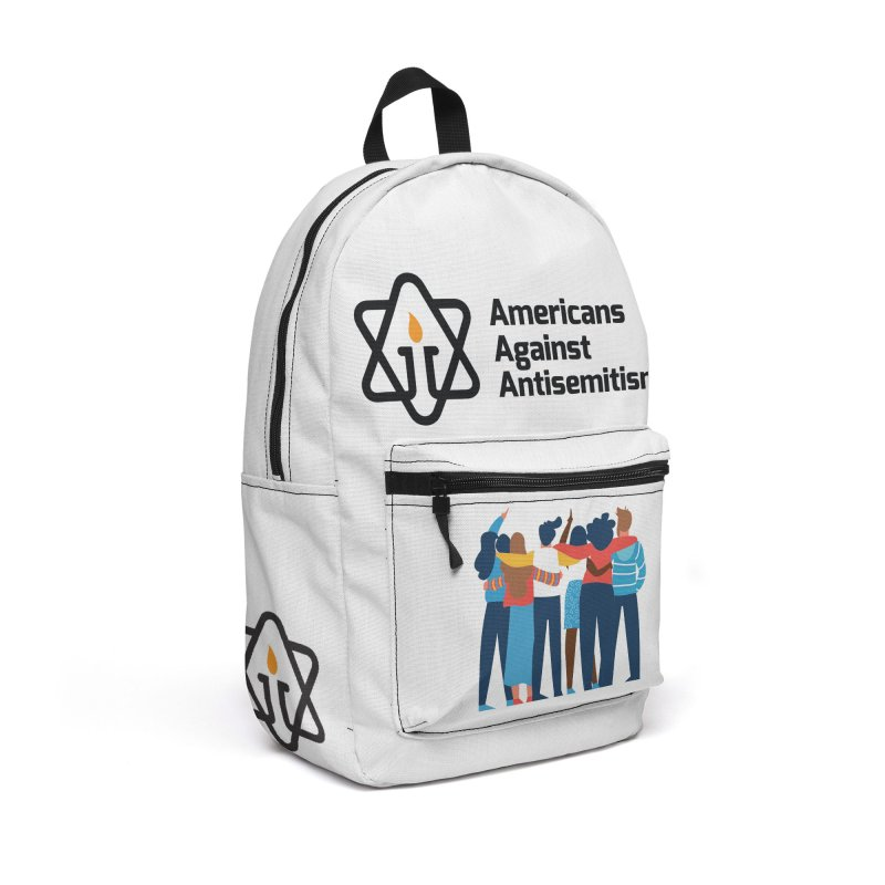 United Against Hate - Americans Against Antisemitism Accessories Backpack Bag by Americans Against Antisemitism's Artist Shop