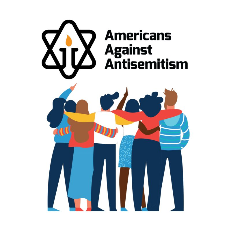 United Against Hate - Americans Against Antisemitism Men's Pullover Hoody by Americans Against Antisemitism's Artist Shop