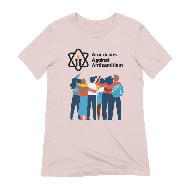 United Against Hate - Americans Against Antisemitism Women's Extra Soft T-Shirt by Americans Against Antisemitism's Artist Shop