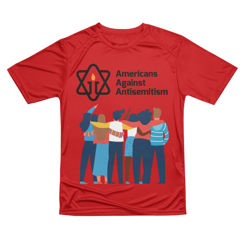 United Against Hate - Americans Against Antisemitism Women's Performance Unisex T-Shirt by Americans Against Antisemitism's Artist Shop