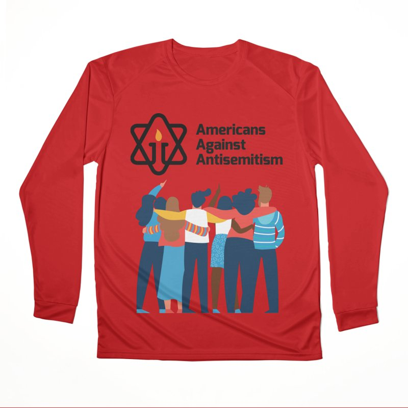 United Against Hate - Americans Against Antisemitism Men's Performance Longsleeve T-Shirt by Americans Against Antisemitism's Artist Shop