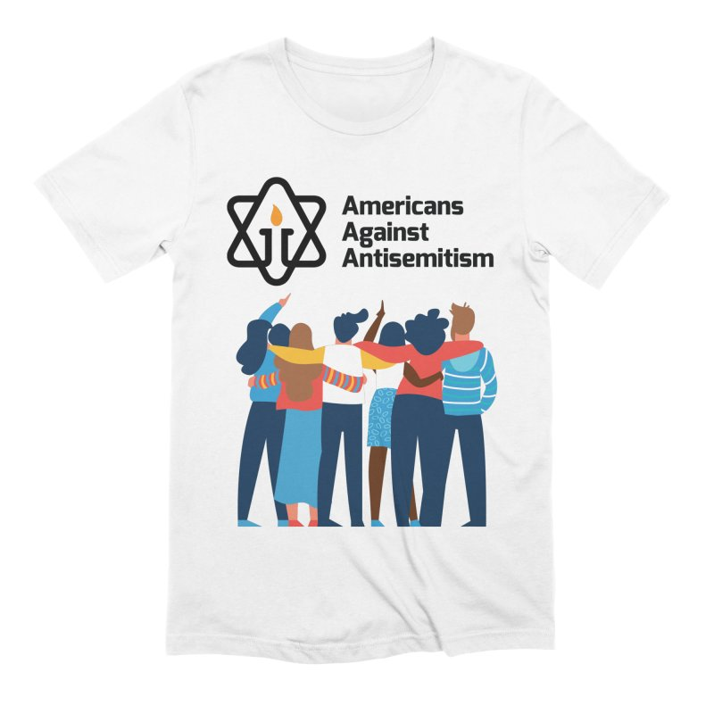United Against Hate - Americans Against Antisemitism Men's Extra Soft T-Shirt by Americans Against Antisemitism's Artist Shop