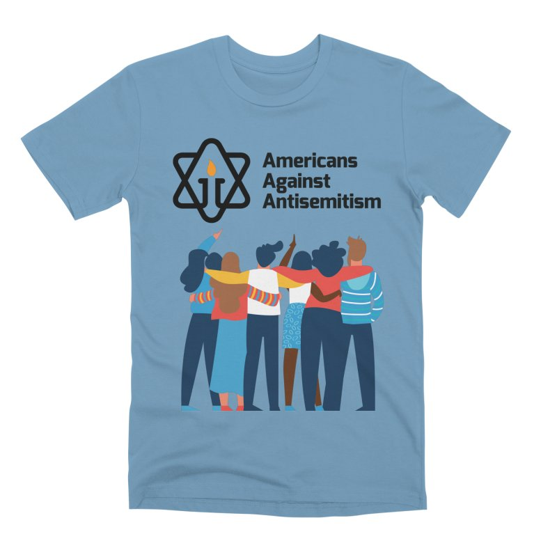 United Against Hate - Americans Against Antisemitism Men's Premium T-Shirt by Americans Against Antisemitism's Artist Shop