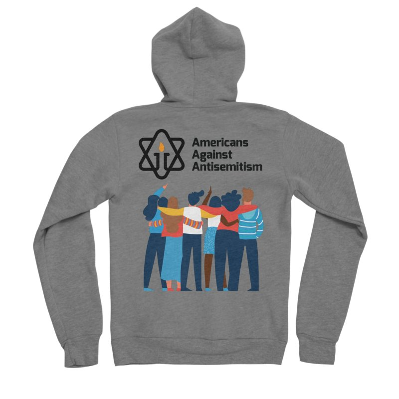United Against Hate - Americans Against Antisemitism Men's Sponge Fleece Zip-Up Hoody by Americans Against Antisemitism's Artist Shop