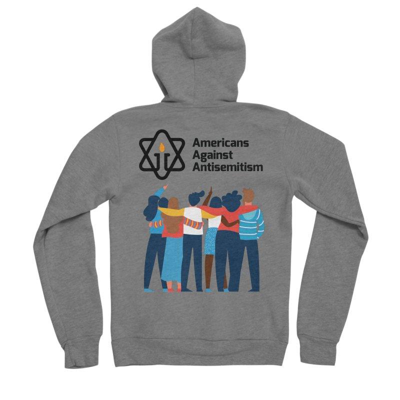 United Against Hate - Americans Against Antisemitism Women's Sponge Fleece Zip-Up Hoody by Americans Against Antisemitism's Artist Shop