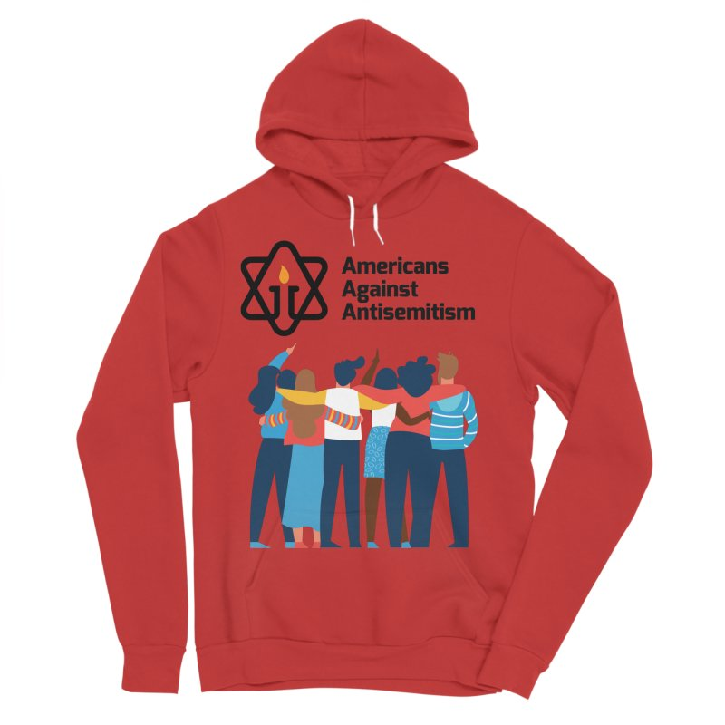 United Against Hate - Americans Against Antisemitism Men's Sponge Fleece Pullover Hoody by Americans Against Antisemitism's Artist Shop