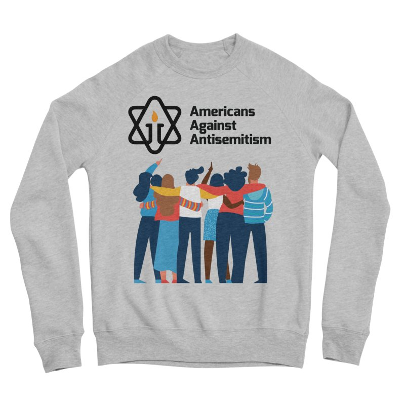 United Against Hate - Americans Against Antisemitism Men's Sponge Fleece Sweatshirt by Americans Against Antisemitism's Artist Shop