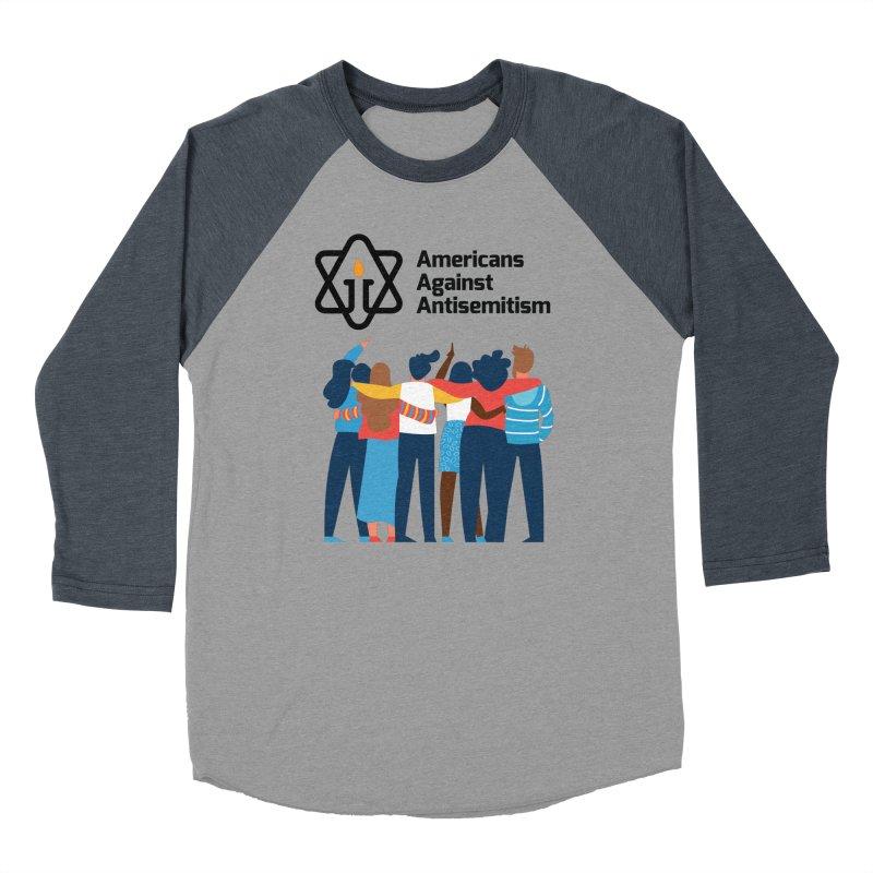 United Against Hate - Americans Against Antisemitism Women's Baseball Triblend Longsleeve T-Shirt by Americans Against Antisemitism's Artist Shop