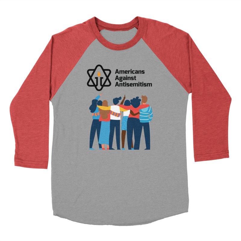 United Against Hate - Americans Against Antisemitism Men's Baseball Triblend Longsleeve T-Shirt by Americans Against Antisemitism's Artist Shop