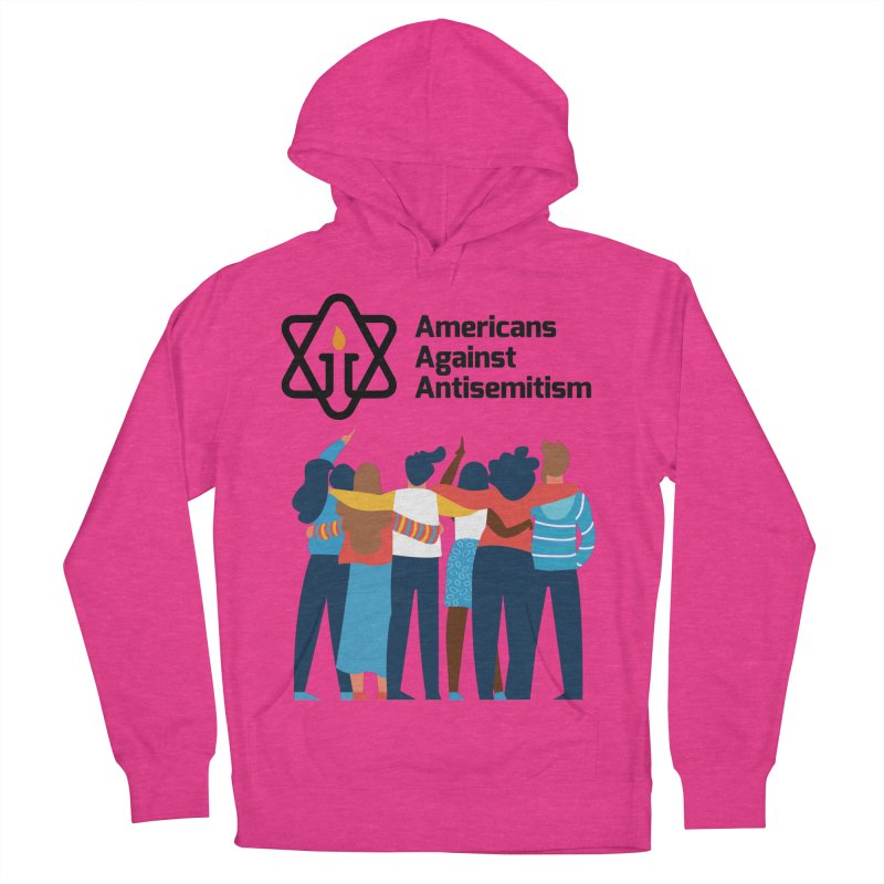 United Against Hate - Americans Against Antisemitism Men's French Terry Pullover Hoody by Americans Against Antisemitism's Artist Shop