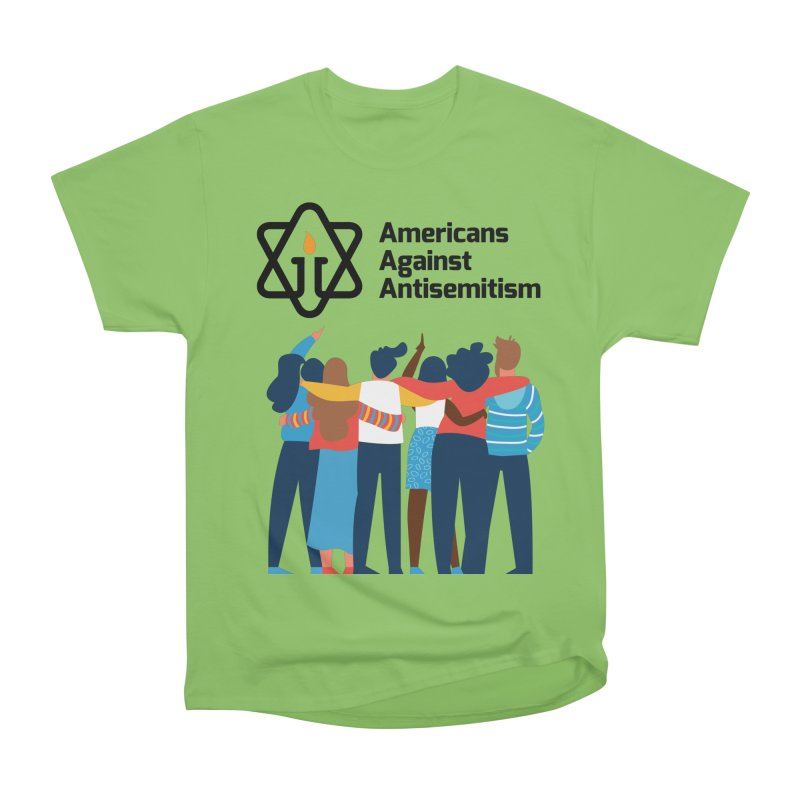 United Against Hate - Americans Against Antisemitism Men's Heavyweight T-Shirt by Americans Against Antisemitism's Artist Shop