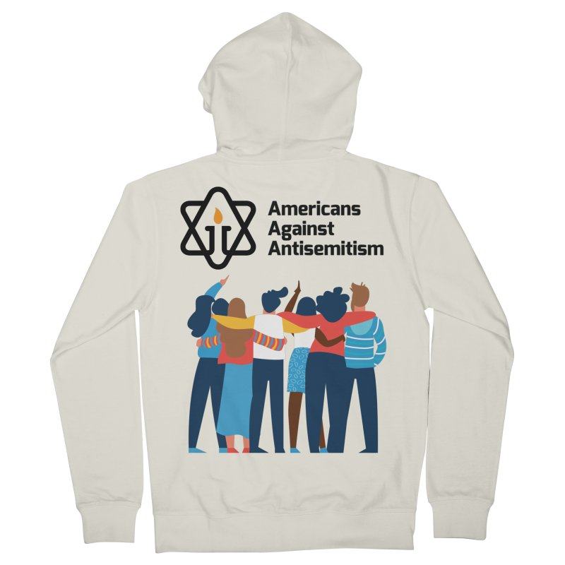 United Against Hate - Americans Against Antisemitism Men's French Terry Zip-Up Hoody by Americans Against Antisemitism's Artist Shop