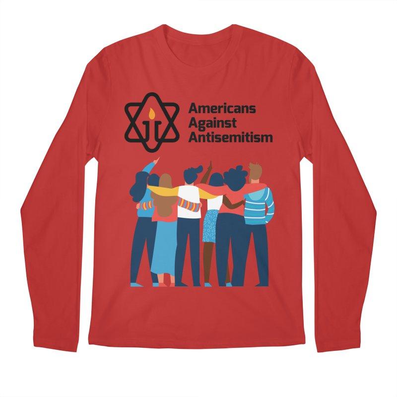 United Against Hate - Americans Against Antisemitism Men's Regular Longsleeve T-Shirt by Americans Against Antisemitism's Artist Shop