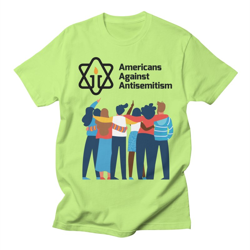 United Against Hate - Americans Against Antisemitism Men's Regular T-Shirt by Americans Against Antisemitism's Artist Shop