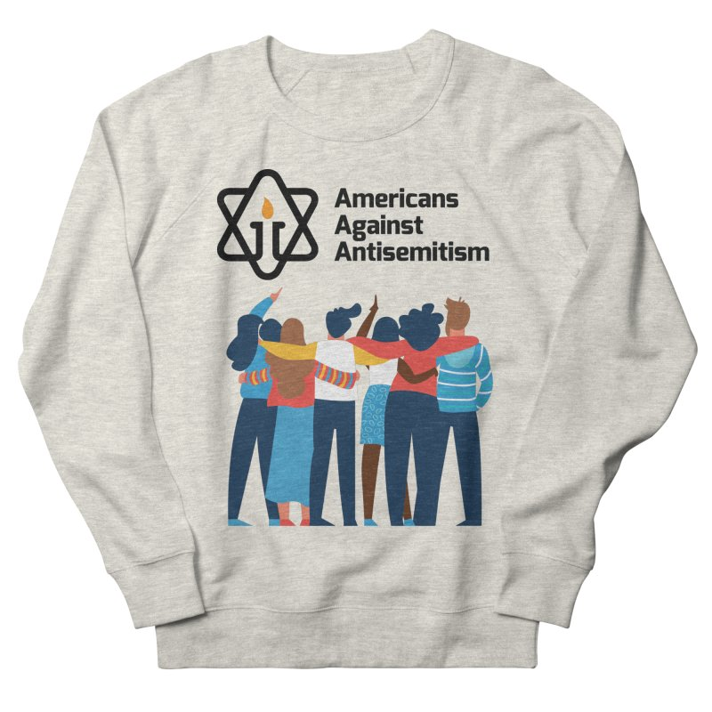 United Against Hate - Americans Against Antisemitism Men's French Terry Sweatshirt by Americans Against Antisemitism's Artist Shop