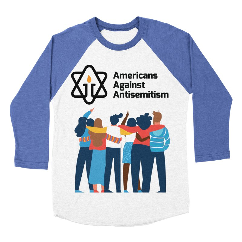 United Against Hate - Americans Against Antisemitism Women's Baseball Triblend Longsleeve T-Shirt by Americans Against Antisemitism's Artist Shop