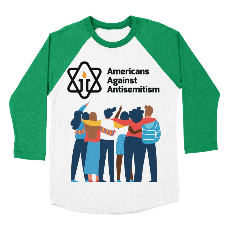 United Against Hate - Americans Against Antisemitism Men's Baseball Triblend Longsleeve T-Shirt by Americans Against Antisemitism's Artist Shop