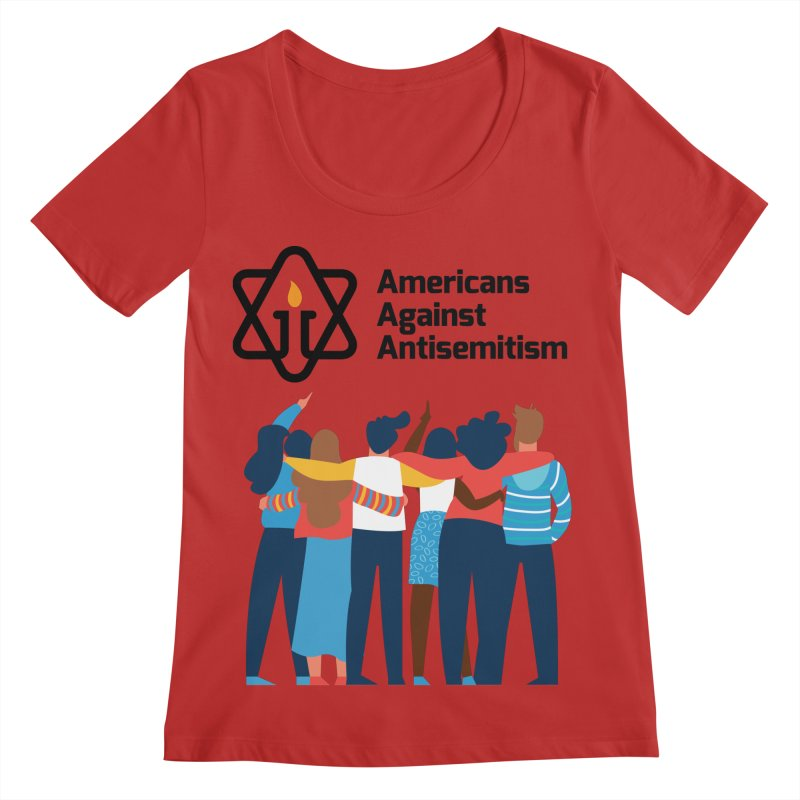 United Against Hate - Americans Against Antisemitism Women's Regular Scoop Neck by Americans Against Antisemitism's Artist Shop