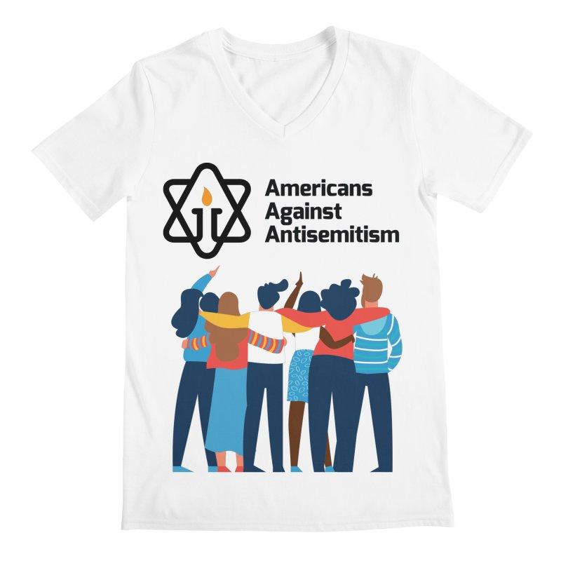 United Against Hate - Americans Against Antisemitism Men's Regular V-Neck by Americans Against Antisemitism's Artist Shop
