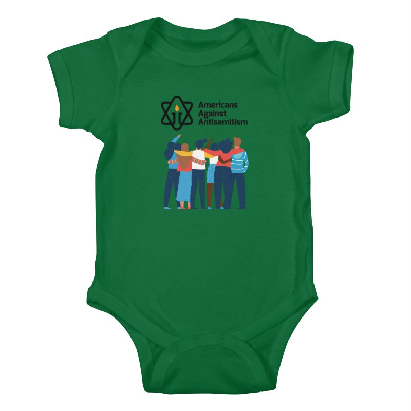 United Against Hate - Americans Against Antisemitism Kids Baby Bodysuit by Americans Against Antisemitism's Artist Shop