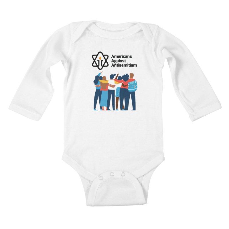 United Against Hate - Americans Against Antisemitism Kids Baby Longsleeve Bodysuit by Americans Against Antisemitism's Artist Shop