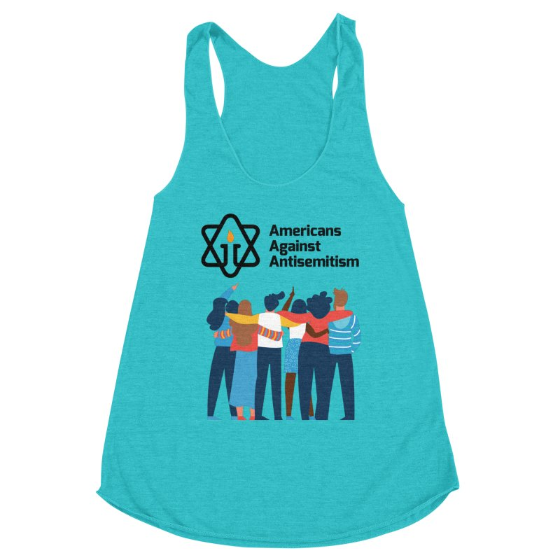 United Against Hate - Americans Against Antisemitism Women's Racerback Triblend Tank by Americans Against Antisemitism's Artist Shop