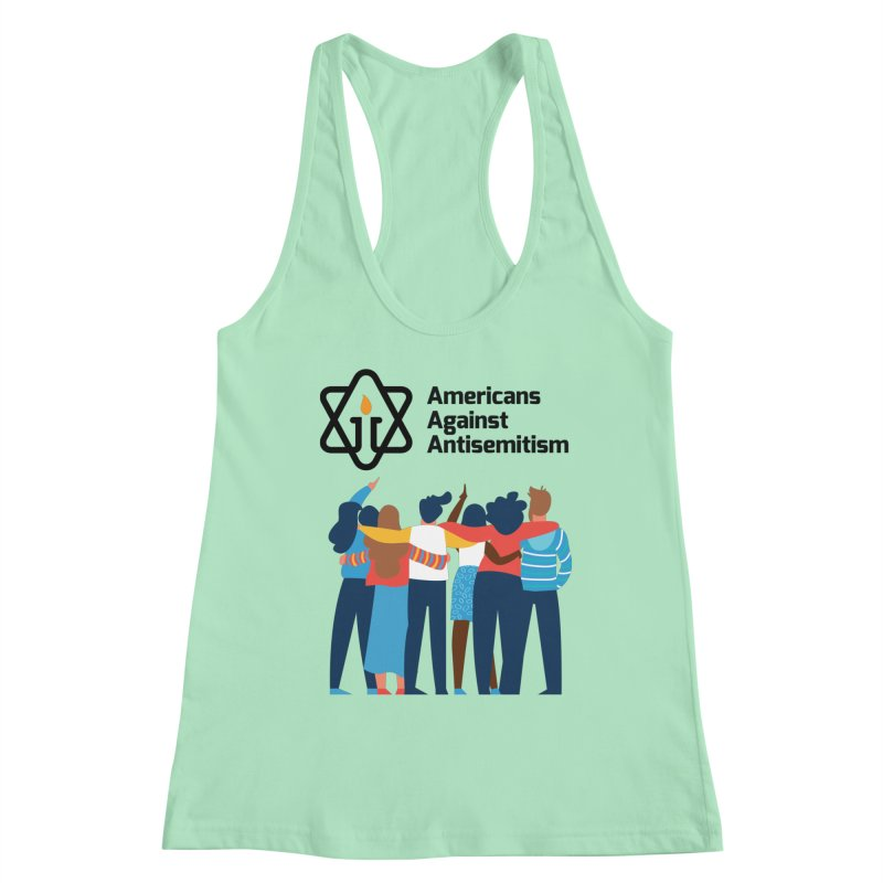 United Against Hate - Americans Against Antisemitism Women's Racerback Tank by Americans Against Antisemitism's Artist Shop