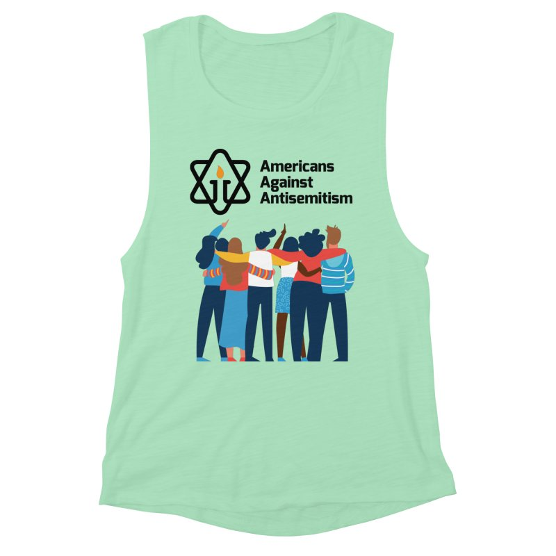 United Against Hate - Americans Against Antisemitism Women's Muscle Tank by Americans Against Antisemitism's Artist Shop