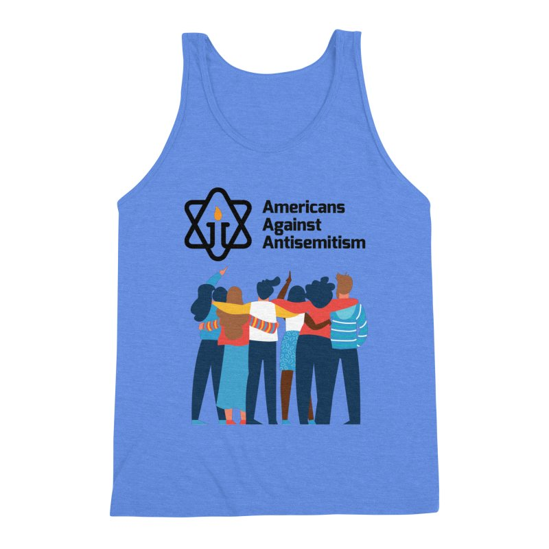 United Against Hate - Americans Against Antisemitism Men's Triblend Tank by Americans Against Antisemitism's Artist Shop