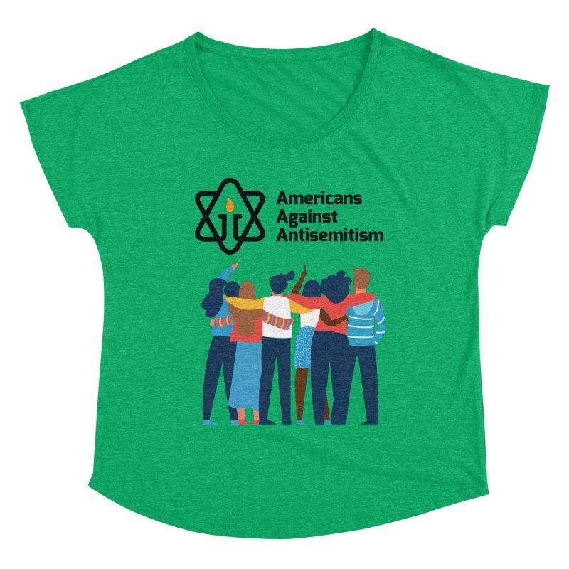 United Against Hate - Americans Against Antisemitism Women's Dolman Scoop Neck by Americans Against Antisemitism's Artist Shop