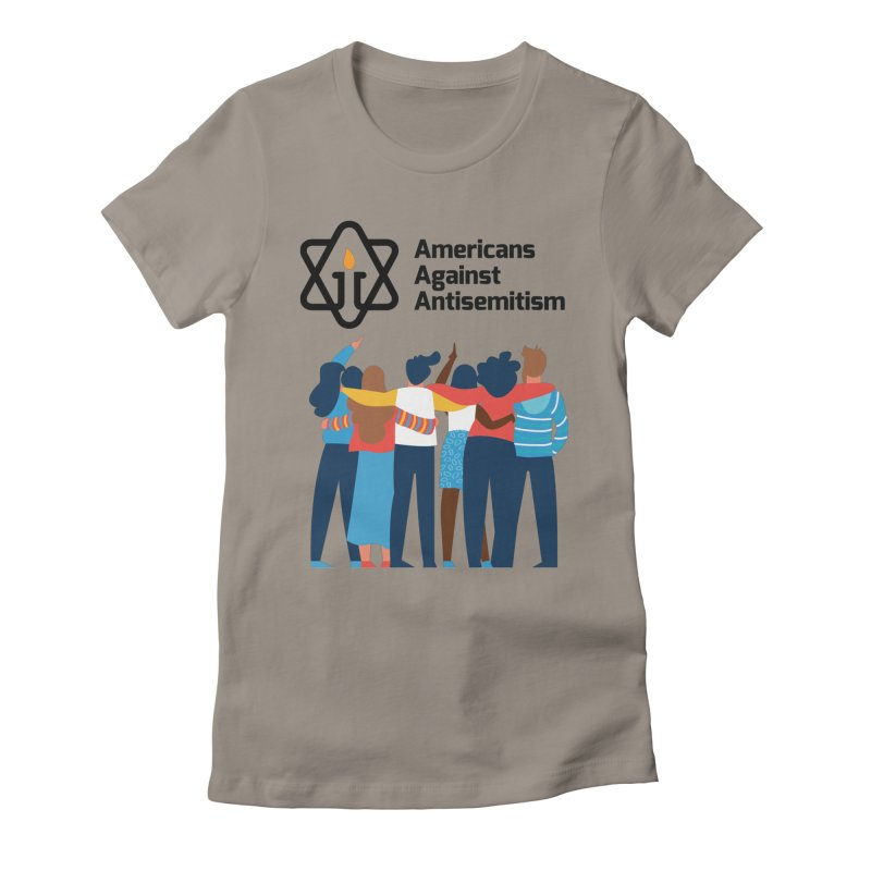 United Against Hate - Americans Against Antisemitism Women's Fitted T-Shirt by Americans Against Antisemitism's Artist Shop