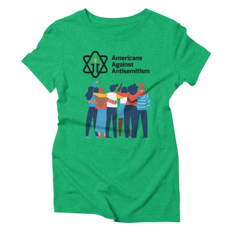 United Against Hate - Americans Against Antisemitism Women's Triblend T-Shirt by Americans Against Antisemitism's Artist Shop