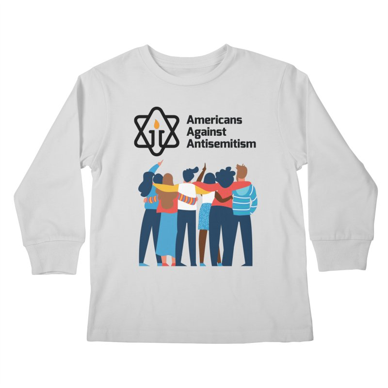 United Against Hate - Americans Against Antisemitism Kids Longsleeve T-Shirt by Americans Against Antisemitism's Artist Shop