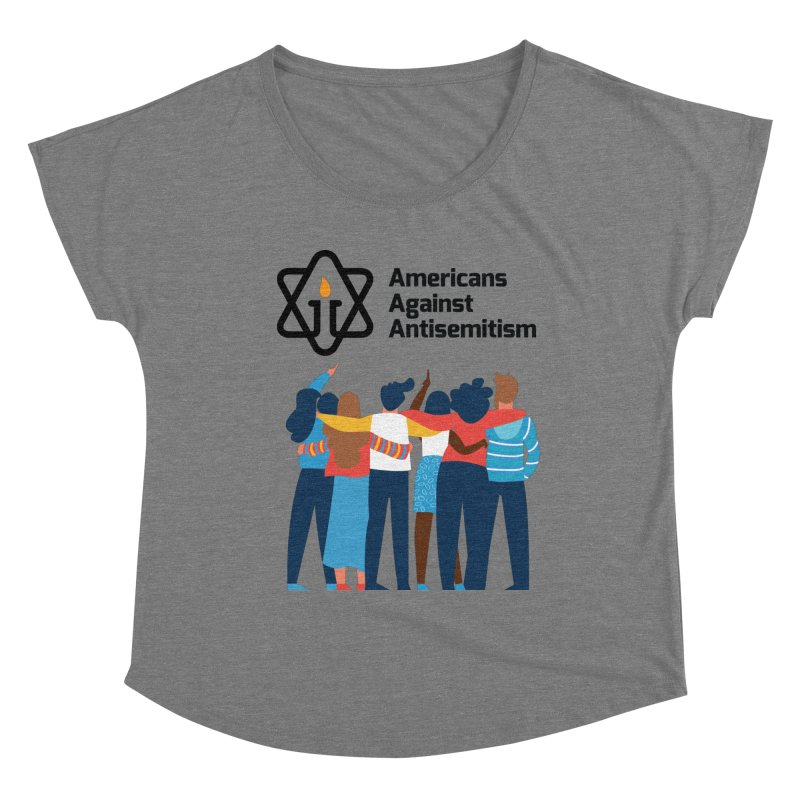 United Against Hate - Americans Against Antisemitism Women's Scoop Neck by Americans Against Antisemitism's Artist Shop