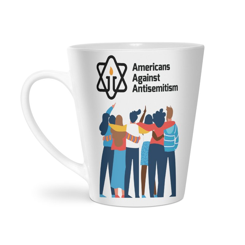 United Against Hate - Americans Against Antisemitism Accessories Latte Mug by Americans Against Antisemitism's Artist Shop