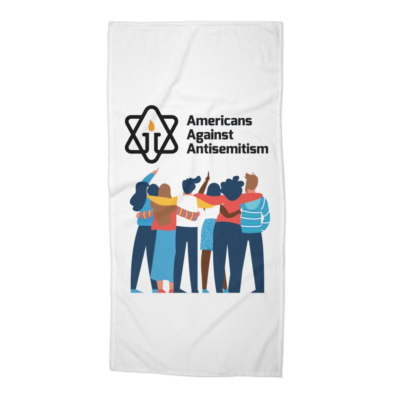 United Against Hate - Americans Against Antisemitism Accessories Beach Towel by Americans Against Antisemitism's Artist Shop