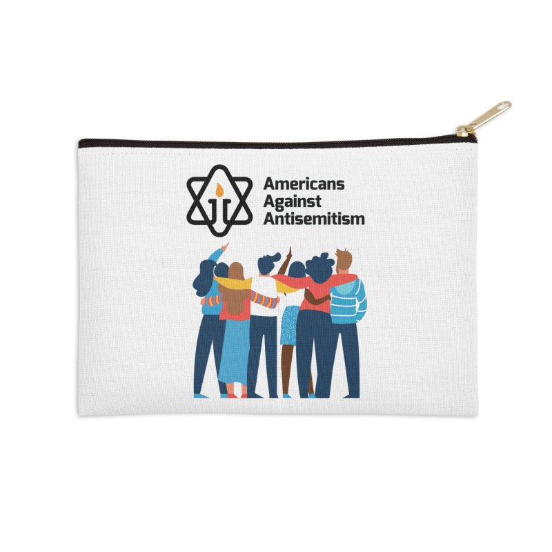 United Against Hate - Americans Against Antisemitism Accessories Zip Pouch by Americans Against Antisemitism's Artist Shop