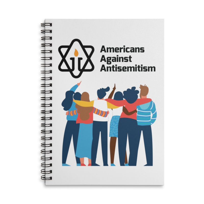 United Against Hate - Americans Against Antisemitism Accessories Lined Spiral Notebook by Americans Against Antisemitism's Artist Shop