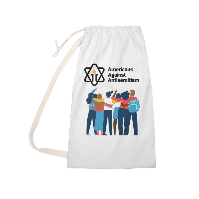United Against Hate - Americans Against Antisemitism Accessories Laundry Bag Bag by Americans Against Antisemitism's Artist Shop