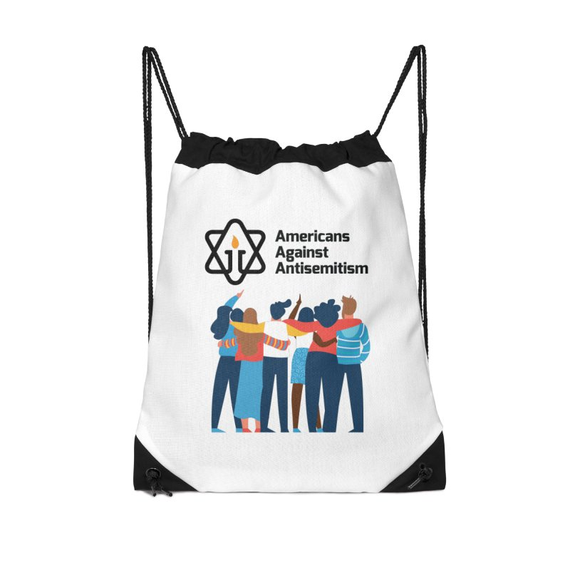 United Against Hate - Americans Against Antisemitism Accessories Drawstring Bag Bag by Americans Against Antisemitism's Artist Shop