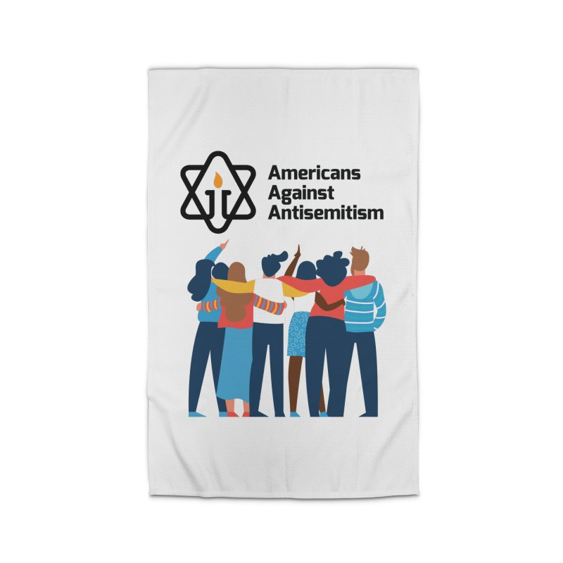 United Against Hate - Americans Against Antisemitism Home Rug by Americans Against Antisemitism's Artist Shop