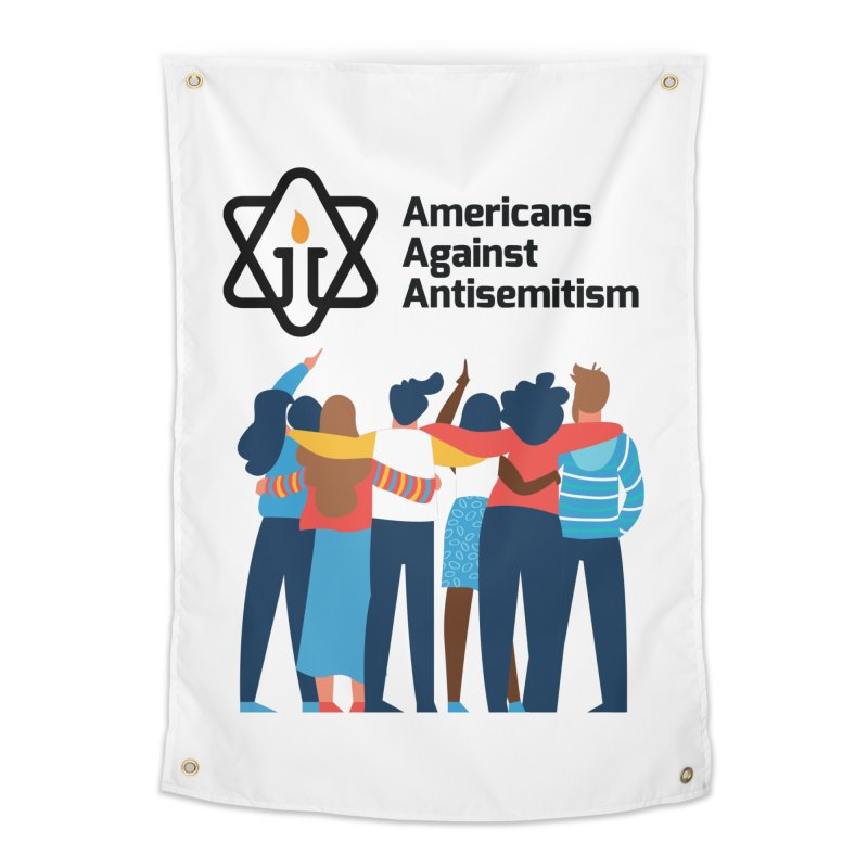 United Against Hate - Americans Against Antisemitism Home Tapestry by Americans Against Antisemitism's Artist Shop