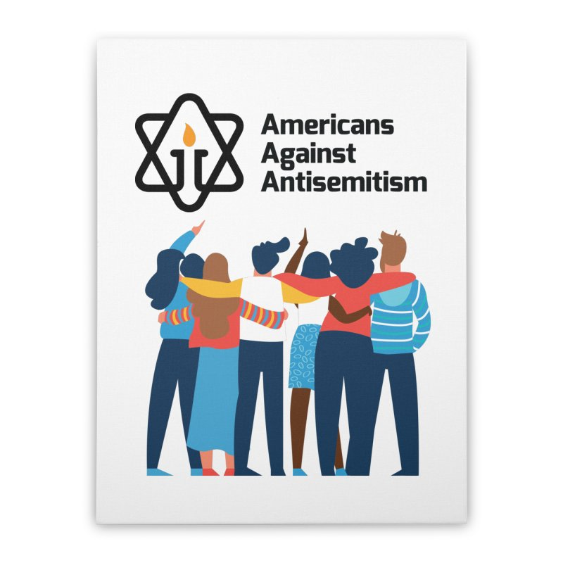 United Against Hate - Americans Against Antisemitism Home Stretched Canvas by Americans Against Antisemitism's Artist Shop