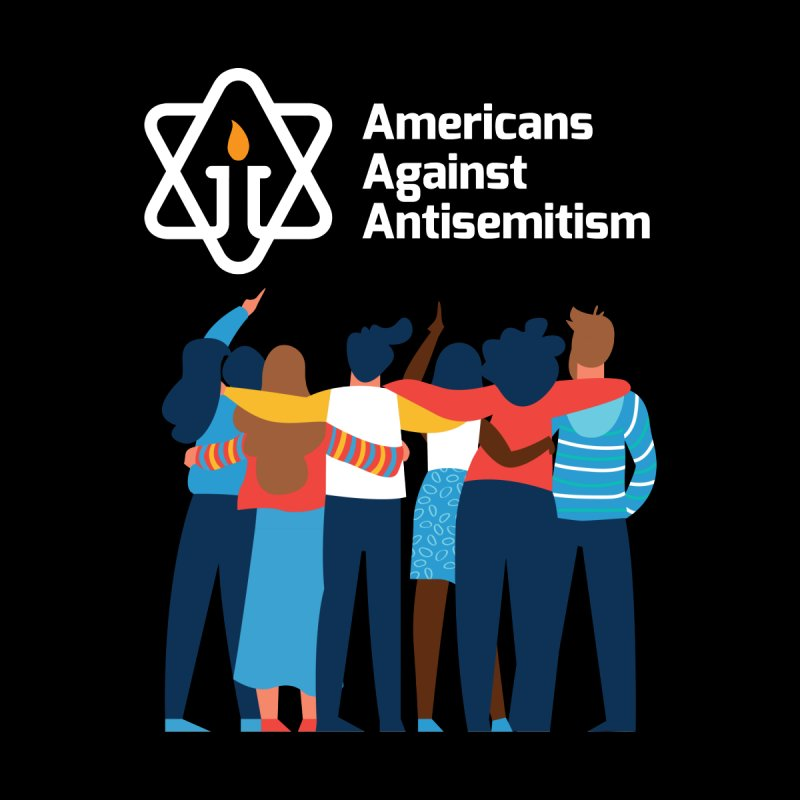 United Against Hate - Dark Backgrounds by Americans Against Antisemitism's Artist Shop
