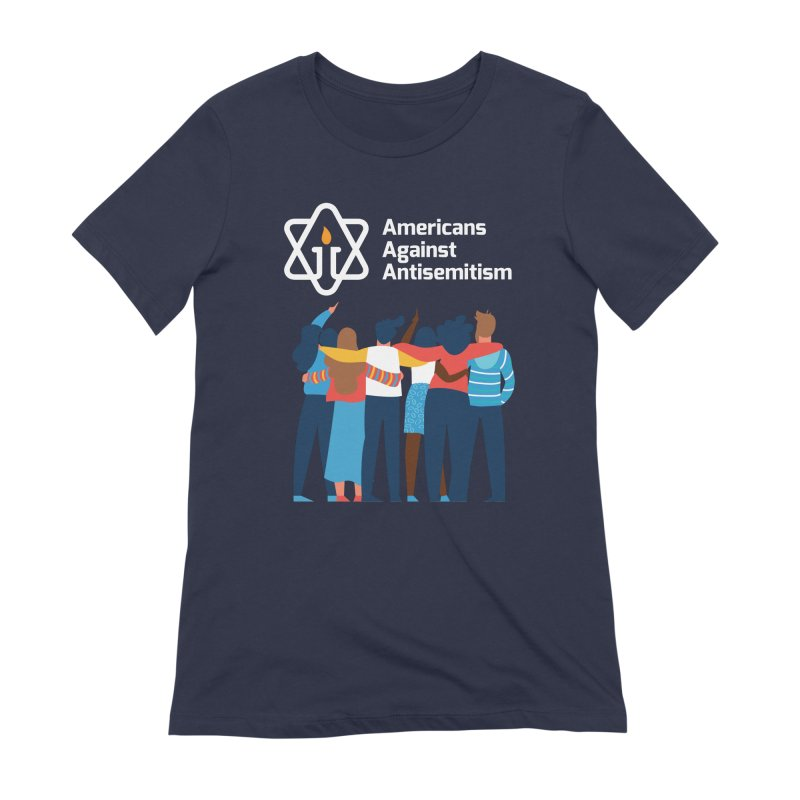 United Against Hate - Dark Backgrounds Women's Extra Soft T-Shirt by Americans Against Antisemitism's Artist Shop