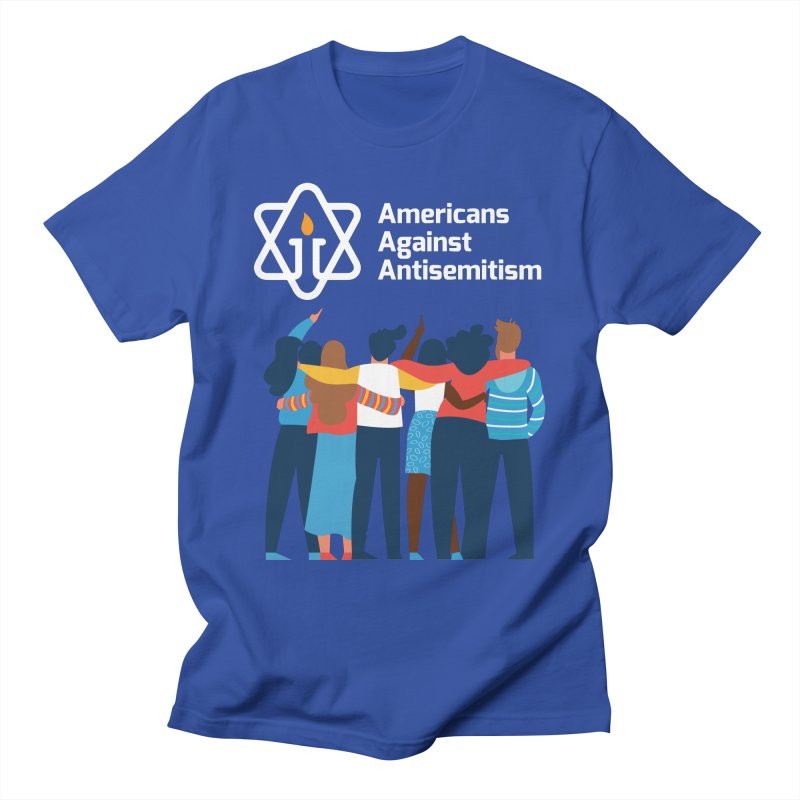 United Against Hate - Dark Backgrounds Men's T-Shirt by Americans Against Antisemitism's Artist Shop