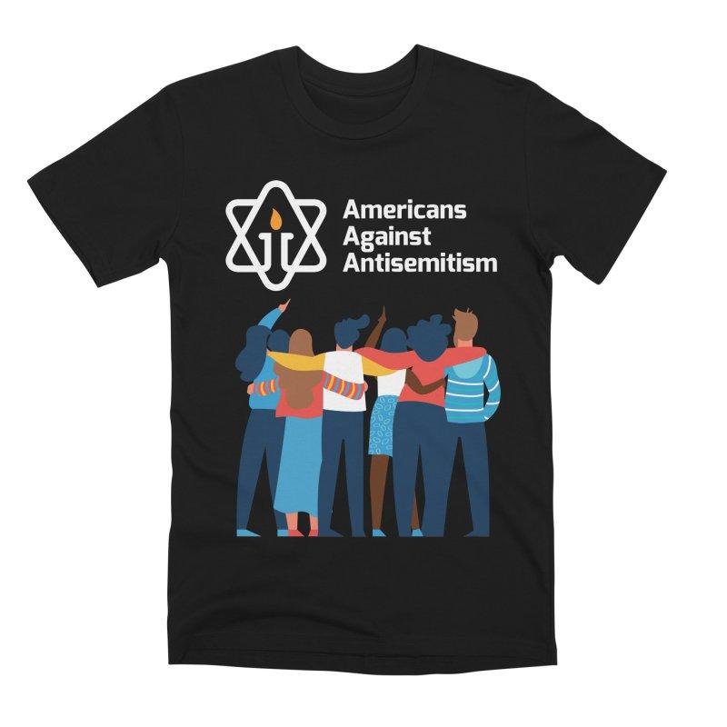 United Against Hate - Dark Backgrounds Men's Premium T-Shirt by Americans Against Antisemitism's Artist Shop