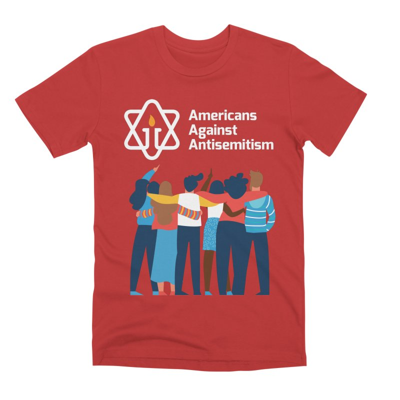 United Against Hate - Dark Backgrounds Men's Premium T-Shirt by Americans Against Antisemitism's Artist Shop